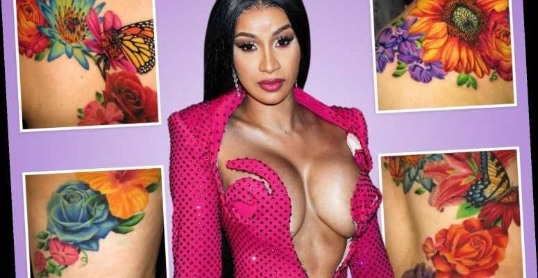 Cardi B Unveils Dramatic Before And After Makeover Of: Cardi B Finally Unveils Massive Tattoo That Covers Her